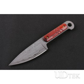 Small antelope Damascus tactical knife UD402405