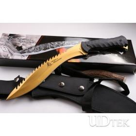 KikuMatsuda dogleg camping knife golden color machete UD404437