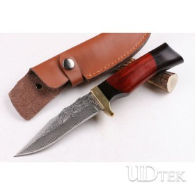 War Movies Damascus blade steel handmade hunting knife UD404455