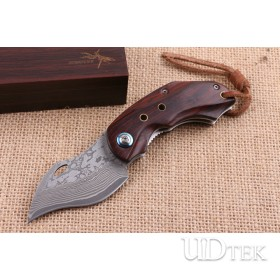 Nighthawk folding pocket knife with VG10 Damascus steel blade material UD404614