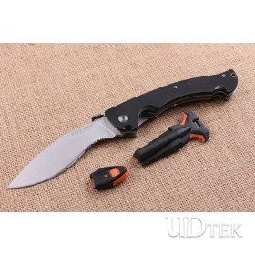 Cold Steel big dogleg folding knife with fire starter and whistle UD404805