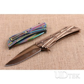 Microtech Terminator 2 colors folding knife with steel handle UD404833