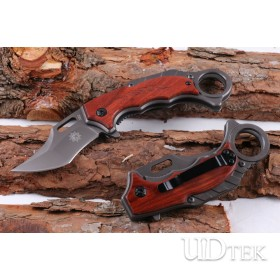 Firefox X62 folding knife with steel and wood handle UD404877