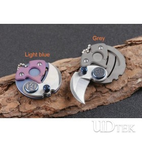 Titanium alloy CT-4 handle high quality coin shape multi mini folding knife with D2 blade UD405087