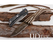 Microtech Terminator imatation Damascus hunting folding knife UD405158