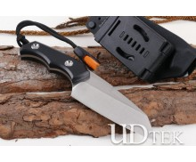 Military version full tang small straight survival knife (sanding) with fire starter UD405162