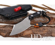 Brake moon fixed blade hunting knife with whistle and fire starter UD405156