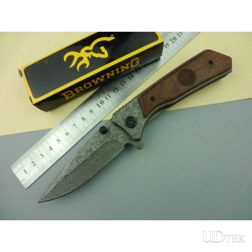 Browning 331 folding knife Damascus imitation grain UD50045