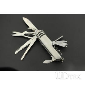 Steel 11 in 1  multifunctional stainless steel small swiss knife UD50103