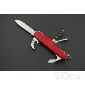 5 in 1 red  multifunctional stainless steel swiss army knife gift tool UD50105
