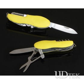 Stainless steel 9 in 1 multi small knife Outdoor swiss army knife UD50158