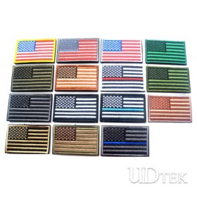 3D American flag badge Velcro paste backpack stickers patch UD7001