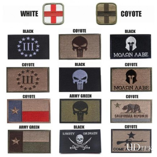 Molon Labe Punisher Armbands Embroidery Velcro paste badge patch UD7002