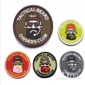 3D Tactical beard stickers patch badge army embroidery Velcro UD7008